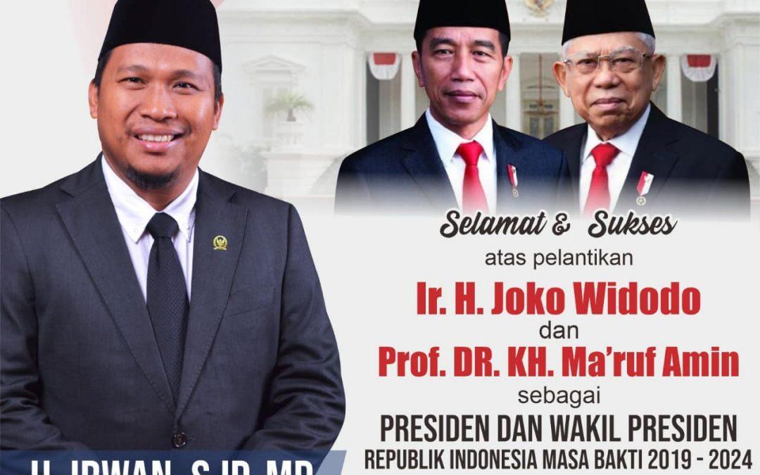 Selamat Atas Pelantikan Presiden H.Joko Widodo (2019-2024)