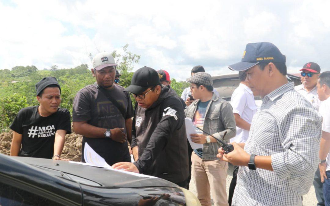 H.Irwan Meninjau Jalan Nasional Kaltim